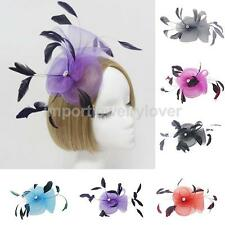 Feather Yarn Wedding Ladies Fancy Ascot Race Fascinator on Clip Hair Decoration