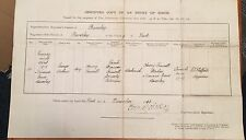 1878 Antique Birth Certificate Beverley East Riding Yorkshire Blacksmith