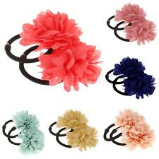 Elastic Small Flower Hair Band Ponios Bobbles for Girls Multi Pack of 2pcs