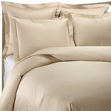 800TC Egyptian Cotton DUVET COVER Sateen Solid Taupe