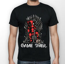 Deadpool Vs Game of Thrones Game Over  - Black T-shirt S M L XL XXL 3XL 4XL 5XL