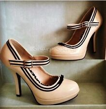 1940s Vintage Style Mary Jane Retro Kawaii Party Cosplay Bridal High Heel Shoes