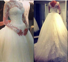 New Ivory/White Lace wedding bridal gown dress custom size 4-6-8-10-12-14-16-18+