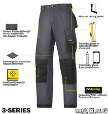 Snickers 3313 Ripstop Work Trousers Snickers Direct Steel Grey - Black