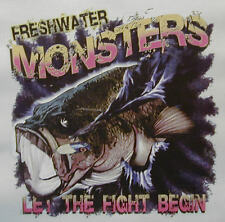 ALL AMERICAN OUTFITTERS FRESHWATER MONSTER BASS FISHING FISH SHIRT #454