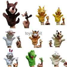 Family Hand & Finger Puppets Plush Animal Toys Kids Story Telling Accessories