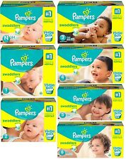 Pampers Swaddlers Diapers - Huge Box ( Choose Your Size - Newborn 1 2 3 4 5 6 )