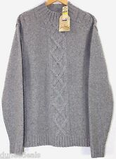 NWT Tommy Bahama Cable Guy Mock Neck Lambswool/Nylon/Cashmere Sweater $180