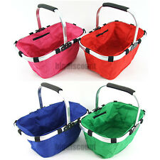 Foldable Carry Bag Eco Shopping Basket Folding Aluminium Frame Collapsible Tote