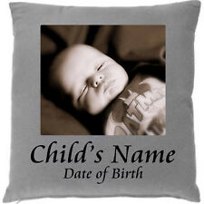 DESIGN YOUR OWN PHOTO CUSHION 43CM SQUARE UNIQUE PERSONALISED GIFT - ADD TEXT