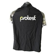 Protest Women's Rash Vest Black & Dust Lycra Surf Swim Beach Water Sports NEW