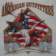 ALL AMERICAN OUTFITTERS DUCK HUNTER HUNTING WATERFOWL SHIRT #481