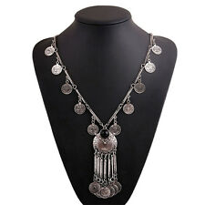 Brand New Vintage Coin Long Pendant Necklace Chain Gypsy Tribal Ethnic Jewelry