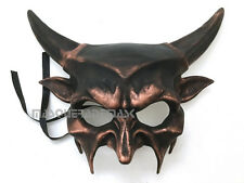 Animal Masquerade Ball Devil Mask with Horned Halloween Costume Dance Prom Party