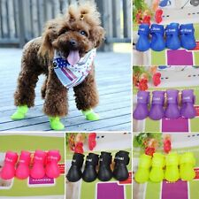Dog Candy Colors Boots Waterproof Protective Rubber Pet Rain Shoes Booties ES