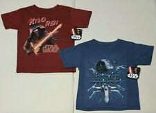 Star Wars Disney Boys Choice Red or Blue Short Sleeve Graphic T-shirts: XS-XXL
