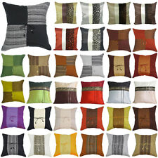 """SILK THROW DECORATIVE PILLOW CUSHION COVER CASE FOR BED SOFA 16""""X16"""" STRIPED"""
