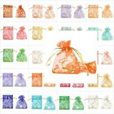20pcs/Bag Organza Rectangle Pouch Bags about 9x7cm Gift wedding bags ^^