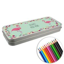 Personalised BACK TO SCHOOL PENCIL TIN - Pencil Case, Pencil Tin with Crayons