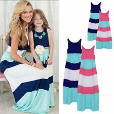 2016 Family Style Mother and Daughter Matching Clothes Long Boho Beach Dresses