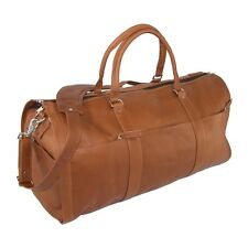 New Leather Impressions Leather Convertible Duffle Bag to Garment Bag