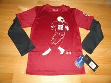 Under Armour Boys Long Sleeve Shirt Football Youth Size 4 5 6 7 NWT Retail $33