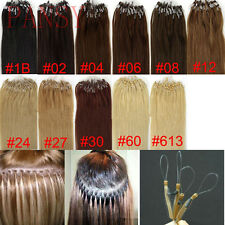 100s 0.5g/s Micro Loop Ring Beads Remy Straight Remy Human Hair Extensions 50g