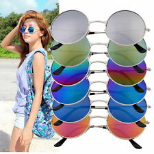 NEW Women Men Anti Colorful Mirror lens Round Glasses Sunglasses Vintage