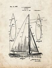 Sailboat Patent Print Old Look