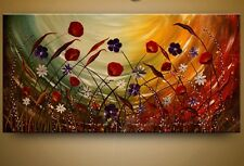 Handmade Abstract Flower Oil Painting Modern Deco Wall Art On Canvas  (no frame)