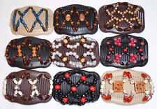 Double Magic Hair Combs, African Style Butterfly Clips, Multicolor Beads, S44