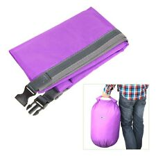 40L Waterproof Purple Storage Dry Bag Pouch for Hiking Swimming Canoeing Travel