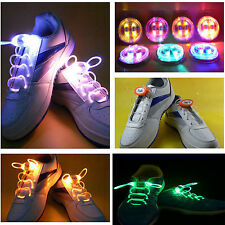 LED Shoelaces Shoe Laces Flash Light Up Glow Stick Strap multi color shoe laces