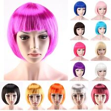 Sexy Women Lady  Short Straight BOB Wig New Cosplay Anime Party Costume Full Wig