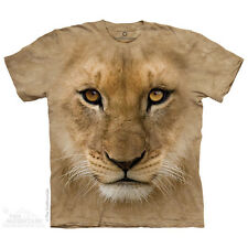 Big Face Lion Cub T-Shirt by The Mountain. Zoo Animals Sizes S-5XL NEW
