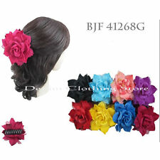 6pcs Flower Jaw Hair Clip Pin Claw Double Sided Style Petals Feathers Lace Lots