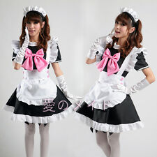 Gothic Costume = Lolita Bow Cosplay Clothing Japanese Sweet  Moe COS  Dress #30