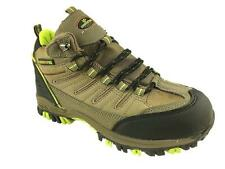 MENS LIGHTWEIGHT HIKING WALKING TRAIL ANKLE BOOTS LACE UP BROWN SIZE 6-12 NEW!