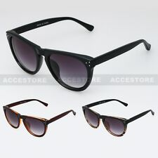 CLASSIC 80s Men Women VINTAGE RETRO WAYFARER DARK LENS SUNGLASSES SHADES UV400