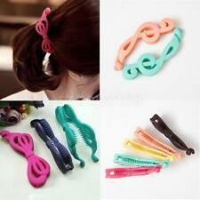 Hot Women Acrylic Musical Notes Butterfly Banana Clip Hair Ponytail Holder
