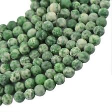 "Craft Jade Gemstone Stone Round Spacer Loose Beads 15"" Jewelry Making Green"