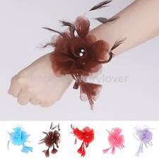 Colorful Wedding Bridal Wrist Corsage Flowers Bracelet Party Prom Ball Accessory