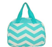 Personalized Turquoise Chevron Insulated Cooler Thermal Tote Box Lunch Bag