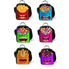Funny Food Printing Lunch Bag Kids' Insulated School Lunch Box Container Picnic