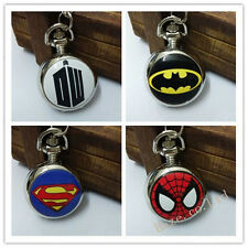 Doctor who/Batman/superman/spider-man Necklace Pocket Watch Child Watch gifts