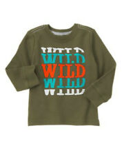 "NWT CRAZY 8 ""WILD"" Olive Green SNOW DAY Thermal  L/S Top T-Shirt"