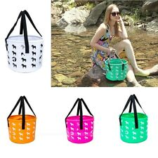 Outdoor Camping Fishing Collapsible Bucket Water Container Car Storage Bag 12L