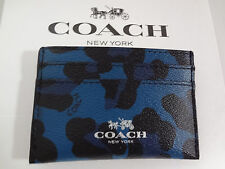 NWT COACH OCELOT PRINT Slate Card Case / Holder F64065 $65.00