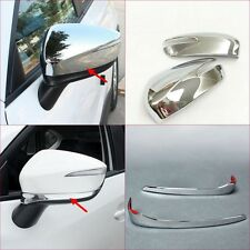 2 style!For Mazda CX-4 CX4 2016-17 Rearview Side Door Mirror Cover Trim 2pcs