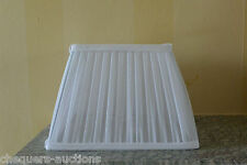 White Square Lined Pleated Fabric Lampshade